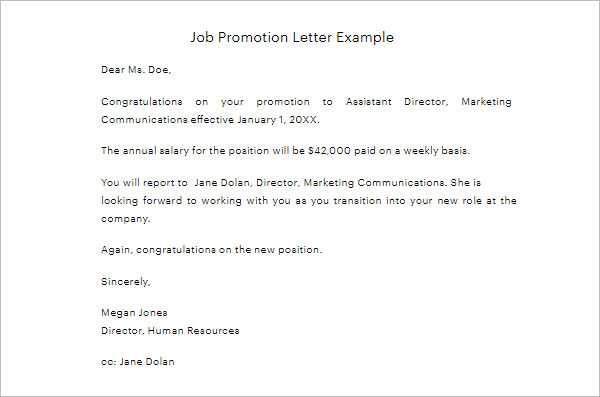 41+ Promotion Letter Templates Free PDF, Word Formats