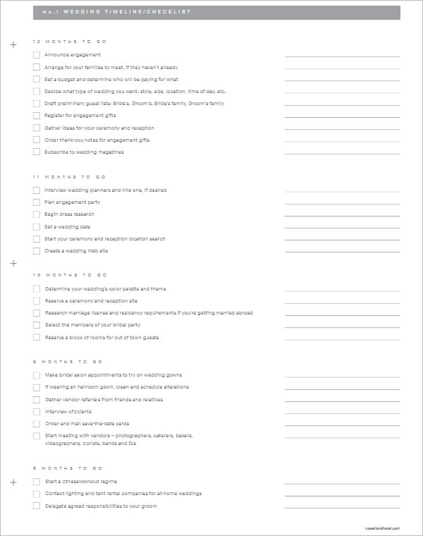 28+ Wedding Checklist Templates Free PDF, Word, Excel Formats