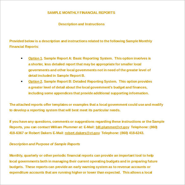 28+ Financial Report Templates Free PDF, DOC, PPT Examples