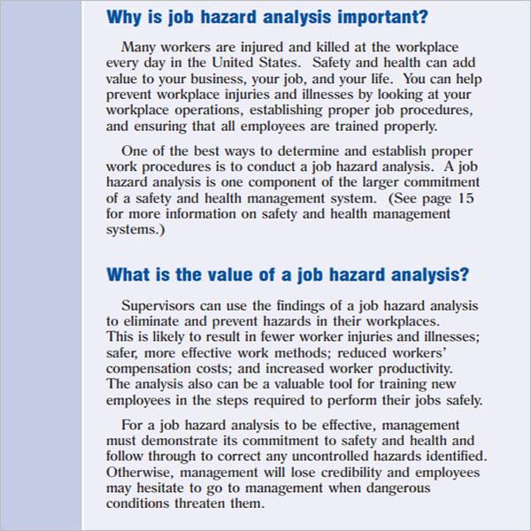 11+ Hazard Analysis Templates Free PDF, Word Examples
