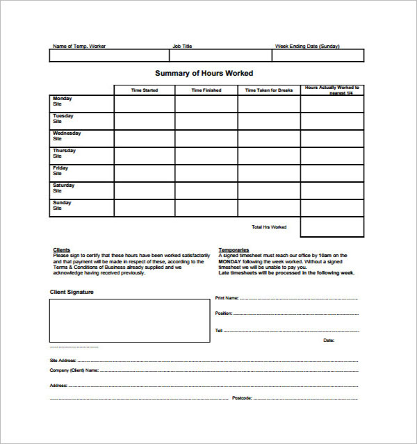 10+ Free Hourly Paycheck Calculator Excel, PDF, Doc, Word Formats
