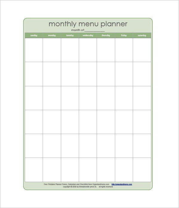 43+ Meal Planning Templates Free PDF, Doc, Excel Format Ideas - menu planning template