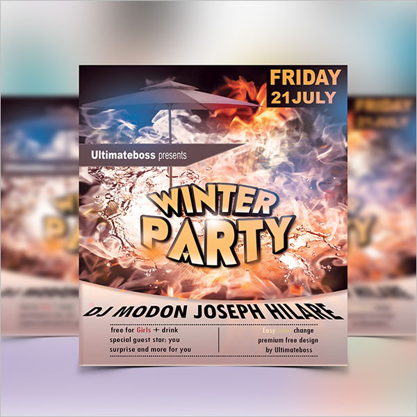 Customizable Winter Flyer Template \u2013
