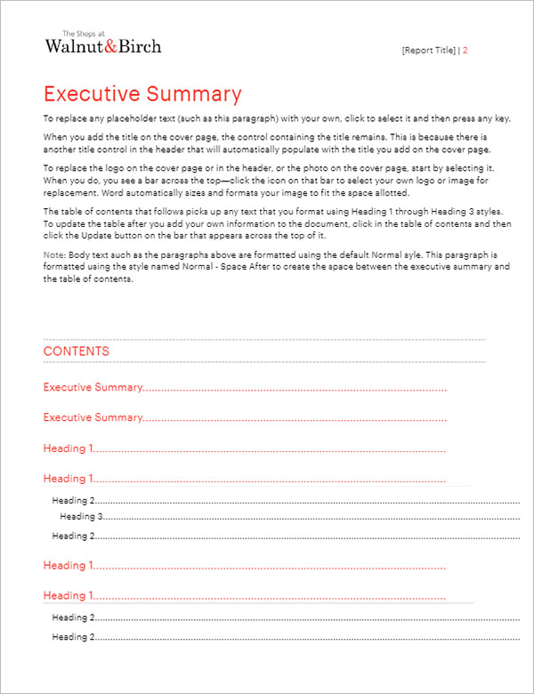 38+ Business Report Templates Word Free Download - Creativetemplate