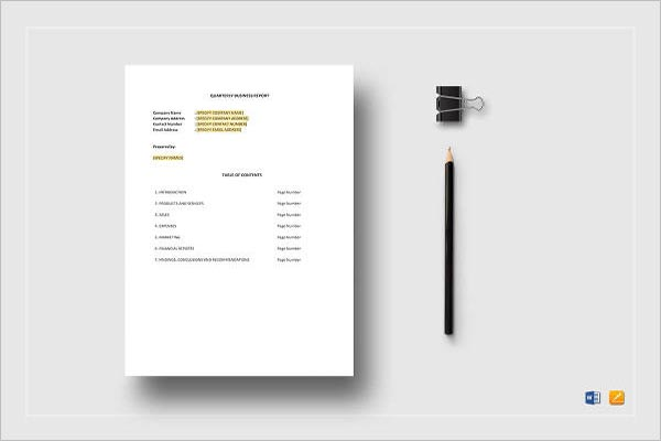 Formal Business Report Templates Free Word, PDF, Example, Format