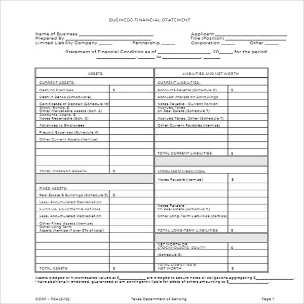 Business Income Statement Template - Free Download,DOC,PDF