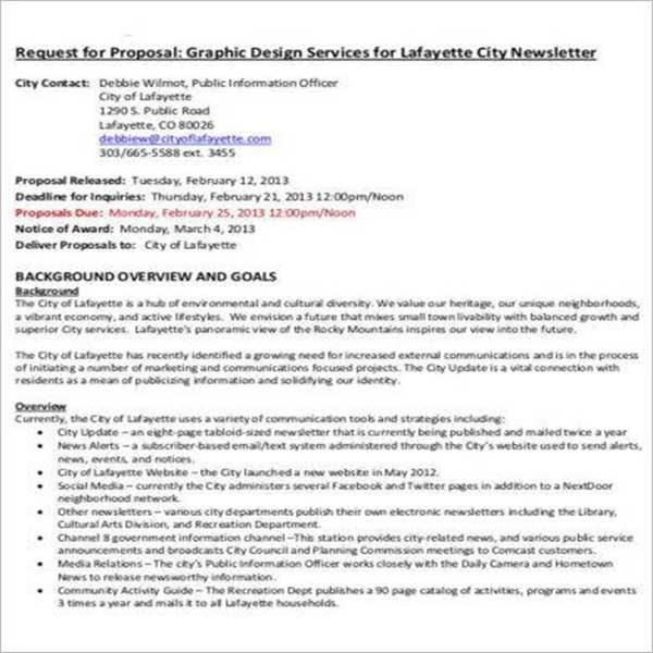 Design Proposal Template - Free Download DOC, PDF, Excel