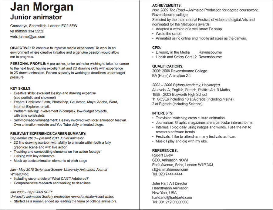 how to write cv uk - Josemulinohouse - a great cv example