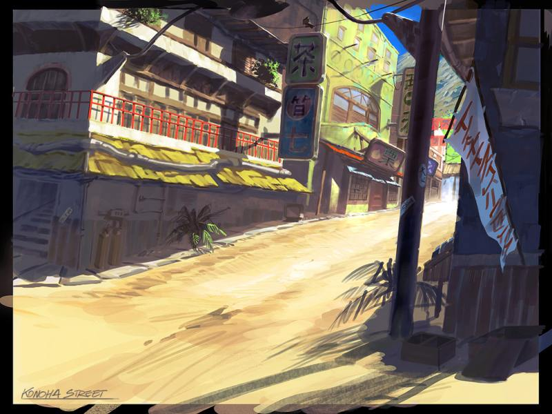 Anime Wallpaper Naruto Shippuden Konoha Street Characters Amp Art Naruto Rise Of A Ninja