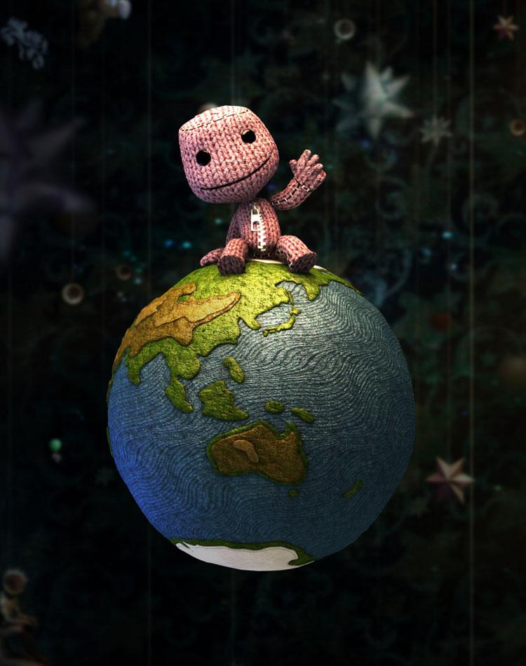Happy Holi Full Hd Wallpaper Sackboy Amp Planet Earth Characters Amp Art Littlebigplanet