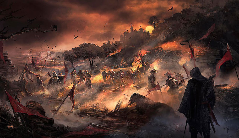 Wallpaper Full Hd 1080p 3d Spain Battle Characters Amp Art Assassin S Creed