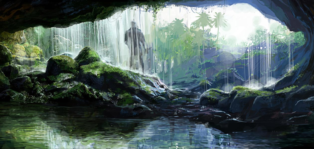 Fall Wallpaper Drawing Cave Waterfall Characters Amp Art Far Cry 3