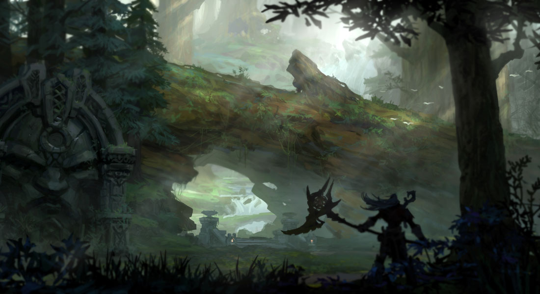 Fantasy Forest 3d Desktop Wallpaper Forest Characters Amp Art Darksiders Ii