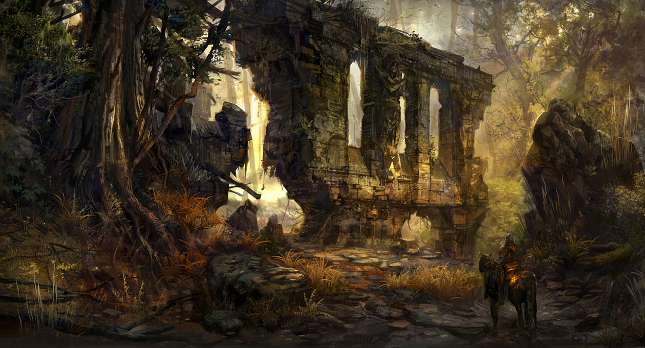 Fall Of Cybertron Wallpaper Hd Forest Ruins Characters Amp Art Of Orcs And Men