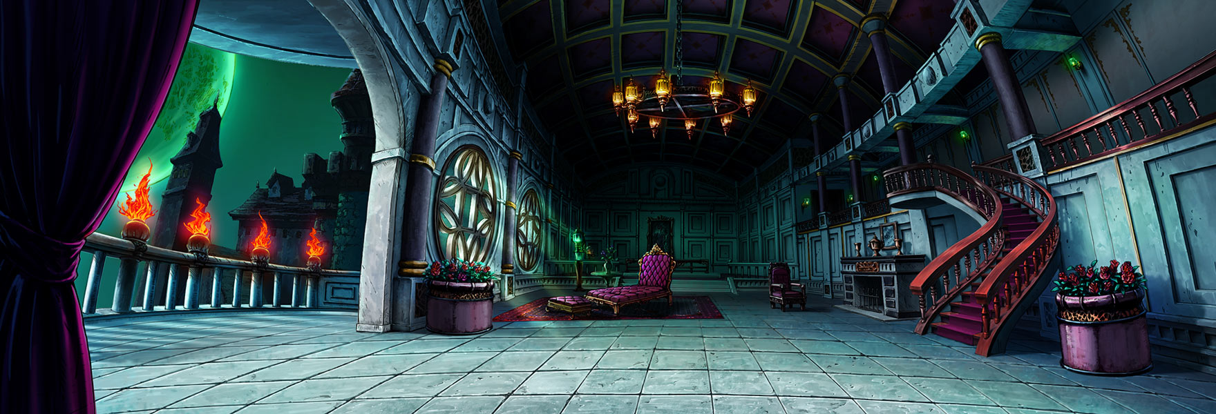 Epic Anime Wallpaper Dio S Mansion Stage Characters Amp Art Jojo S Bizarre
