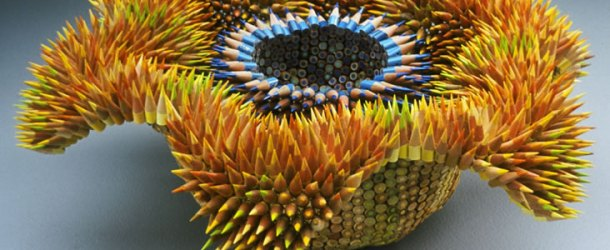 Pencil Sea Urchin sculptures by Jennifer Maestre