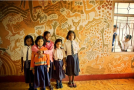 Mud Paintings on School Walls in India