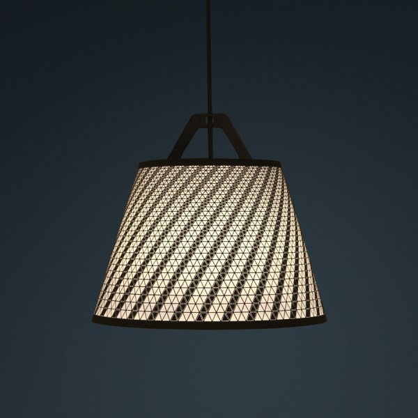 laser stitched lampshade 1