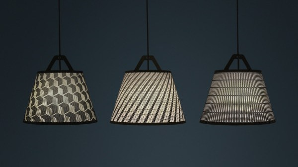 laser stitched lampshade 4