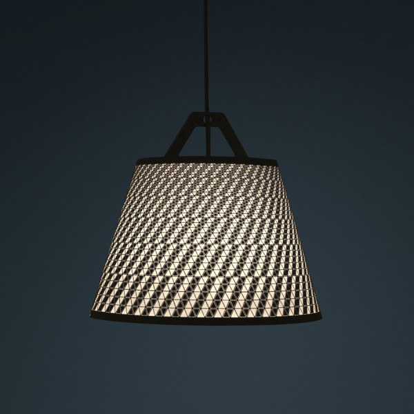 laser stitched lampshade 7