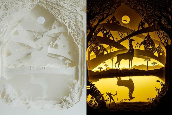 backlit paper sculptures 9
