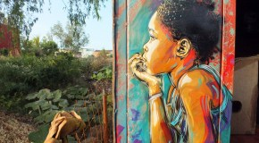 Stencil Graffiti Art from C215