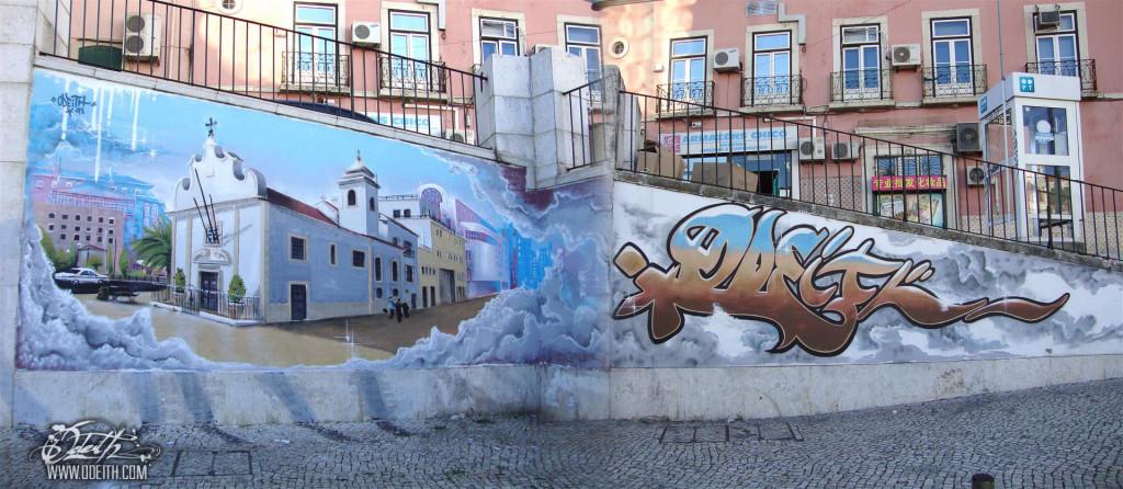 Martim-Moniz-church-Graffiti-Mural-Odeith-Lisboa-Portugal