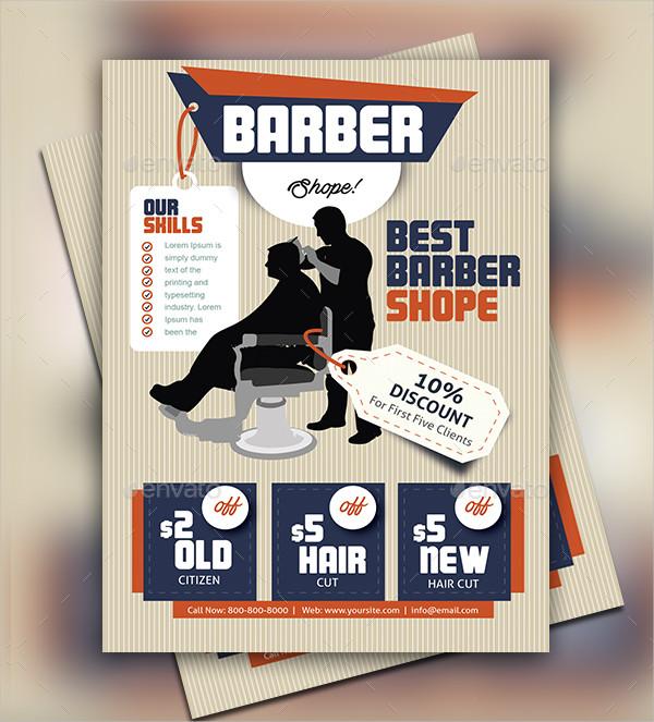 23+ Barbershop Flyer Templates - Free \ Premium Download - discount flyer template