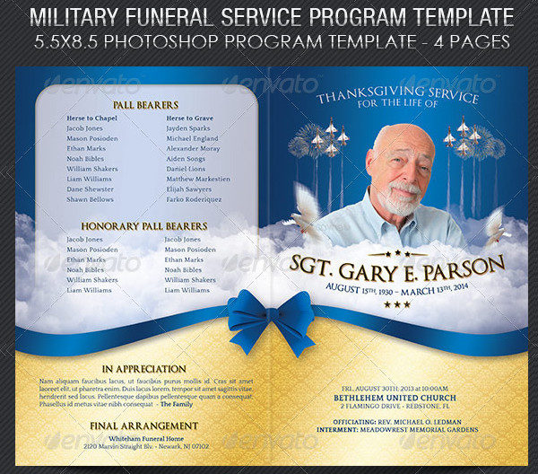 Funeral Programs Templates Funeral Program Template -- Spring - funeral templates