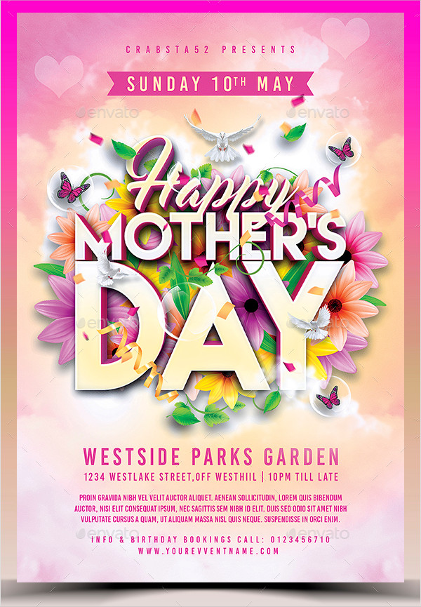 25+ Mother\u0027s Day Flyer Templates - Free PSD, AI, EPS Format Download
