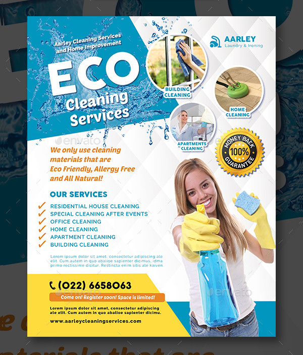 22+ Cleaning Services Flyer Templates - Free \ Premium Download - advertising flyer template