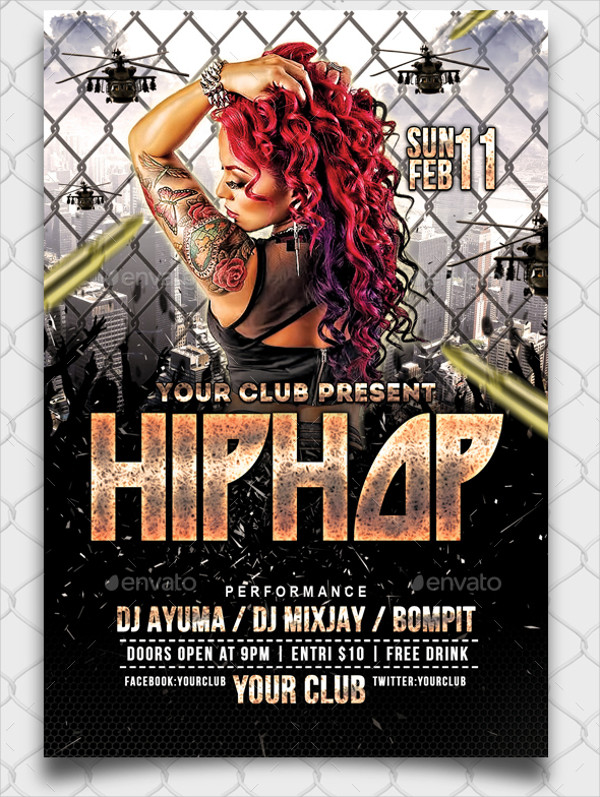25+ Hip Hop Flyer Templates - Free  Premium Download