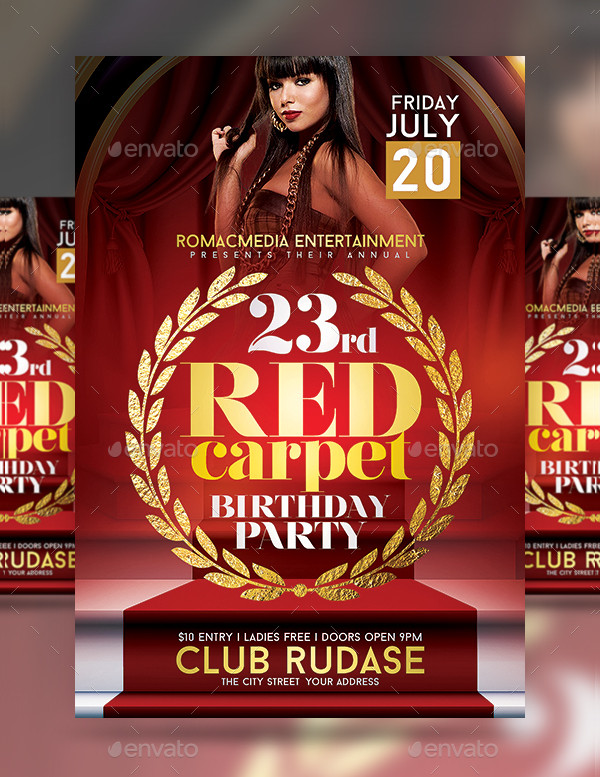 25+ Red Carpet Party Flyer Templates - Free  Premium Download