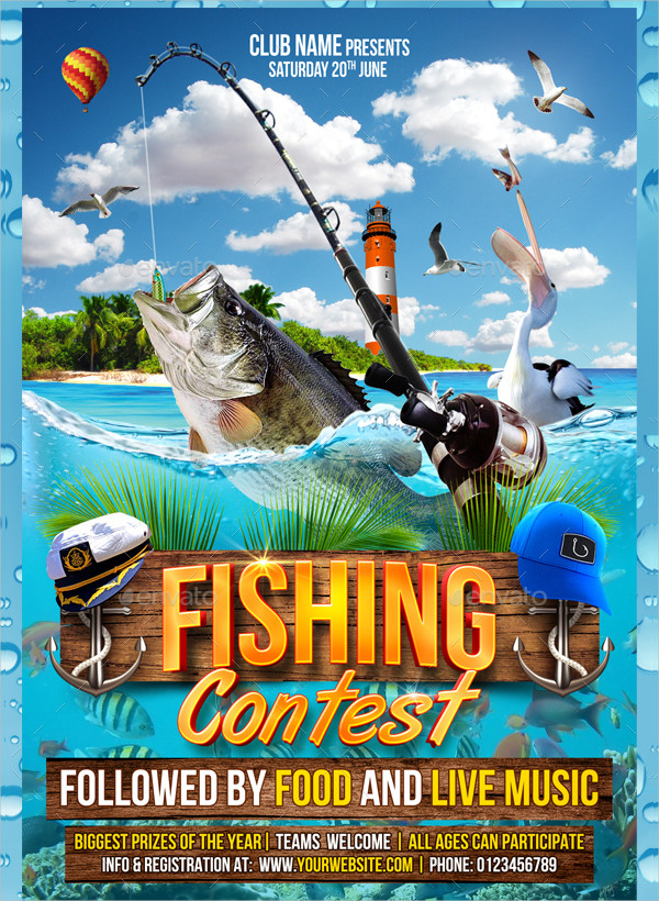 20+ Fishing Flyer Templates - Free  Premium Download