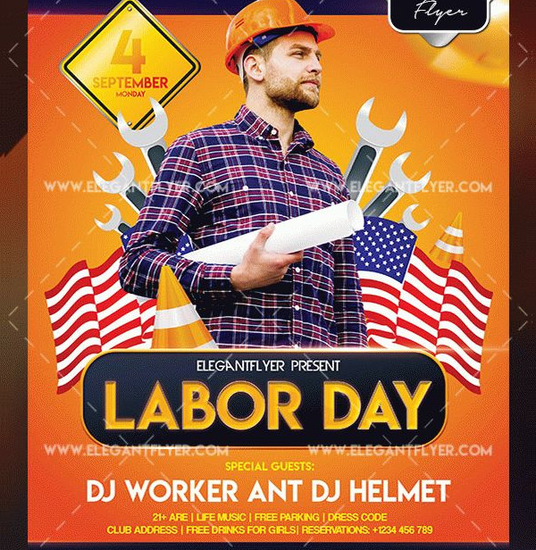 23+ Labor Day Flyer Templates - Free  Premium Download