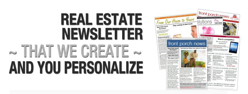 Monthly Customized Real Estate Newsletters For Email Creative Web