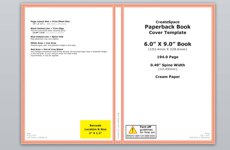 How to make a full print book cover in Microsoft Word for - microsoft word book template