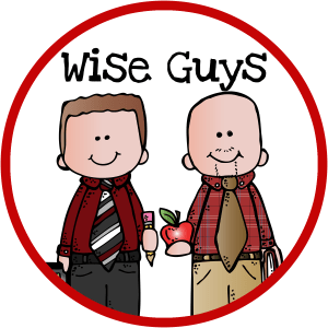 Wise Guys logo red circle
