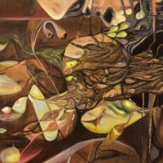 """Oil on Wood. 45"""" x 45"""" 2012."""