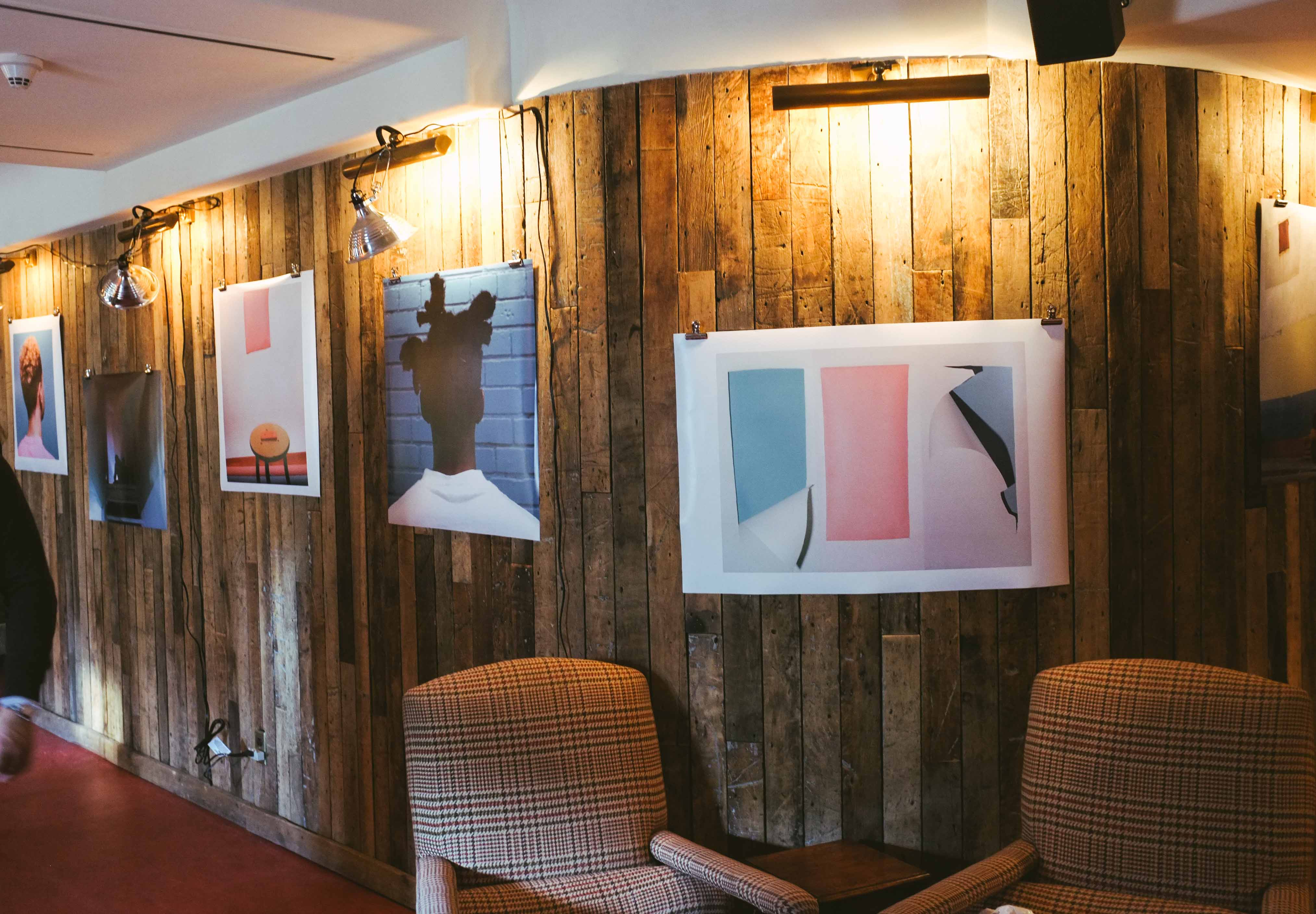 A glimpse at one of NUDE's collaborative shows with the Soho House Toronto.