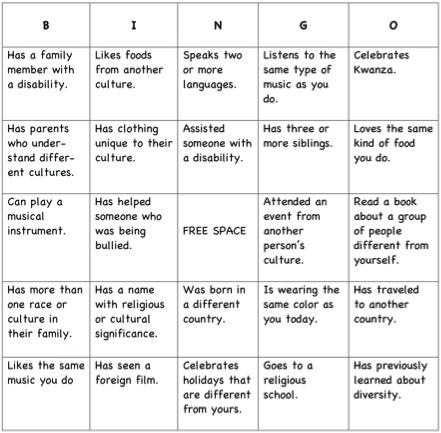 Diversity Bingo Template Images - Template Design Ideas