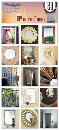 20 DIY Mirror Frames Ideas - The Creek Line House
