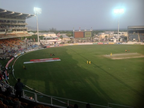 Sabina Park under lights in the Hero CPL T20 game between Jamaica Tallawahs and Trinidad & Tobago Red Steel