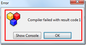 error Compiler failed with result code 1