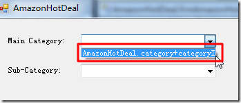 only added type name not value name to combox