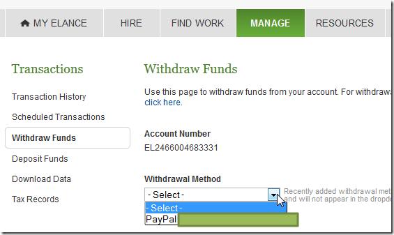 withdraw method no added boc