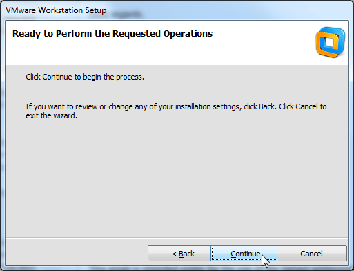 click to continue to install