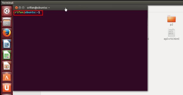 ctrl alt t call terminal but desktop location