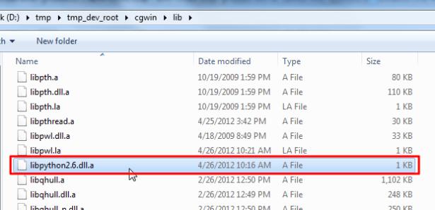 libpython2.6.dll.a file
