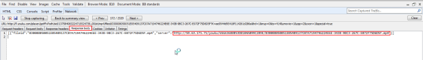 reponse body contain server http mp4 link